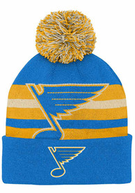 St Louis Blues Youth Third Jersey Heritage Knit Hat - Blue