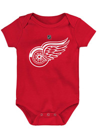 Detroit Red Wings Baby Primary Logo One Piece - Red