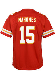 Patrick Mahomes Kansas City Chiefs Youth Nike Super Bowl LV Patch Football Jersey - Red