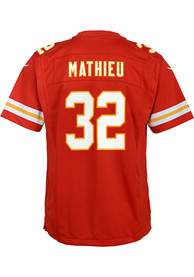 Tyrann Mathieu Kansas City Chiefs Youth Nike Super Bowl LV Patch Football Jersey - Red
