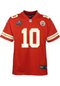 Tyreek Hill Kansas City Chiefs Youth Nike Super Bowl LV Patch Football Jersey - Red