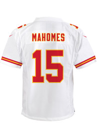 Patrick Mahomes Kansas City Chiefs Youth Nike Super Bowl LV Patch Football Jersey - White