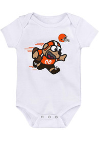 Cleveland Browns Baby Mascot One Piece - White
