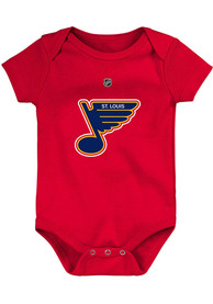 St Louis Blues Baby One Piece - Red