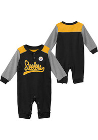 Pittsburgh Steelers Baby Scrimmage One Piece - Black