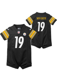 Pittsburgh Steelers Baby Nike Home Romper Football Jersey - Black