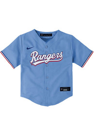 Texas Rangers Baby Nike Alternate 3 Baseball Jersey - Light Blue