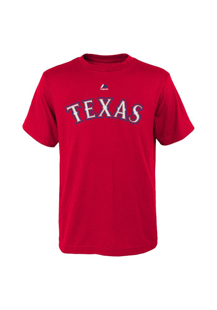 Elvis Andrus Texas Rangers Youth Red Andrus Player Tee - Image 2