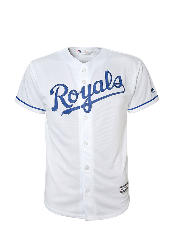 Kansas City Royals Youth White Youth Blank Replica Jersey - Image 1