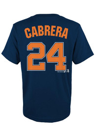 Miguel Cabrera Detroit Tigers Youth Player T-Shirt - Navy Blue