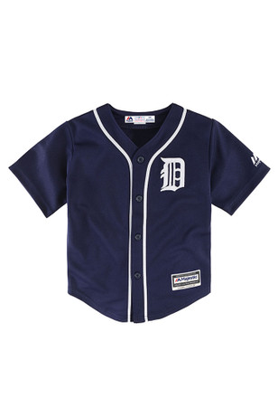 Detroit Tigers Baby Navy Blue Infant Cool Base Replica Baseball Jersey