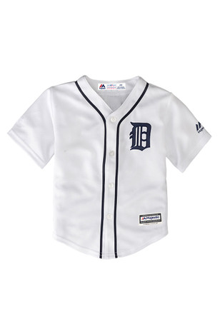 Detroit Tigers Baby White Infant Cool Base Replica Baseball Jersey
