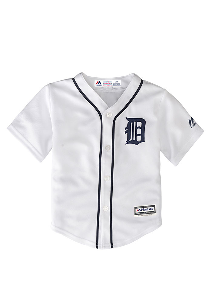 Detroit Tigers Baby White Infant Cool Base Replica Jersey Baseball Jersey - Image 1
