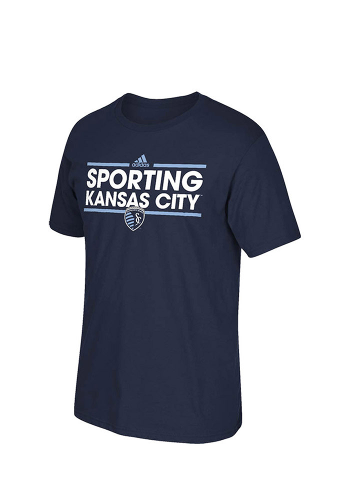 Sporting Kansas City Youth Navy Blue Youth Dassler Short Sleeve T-Shirt - Image 1