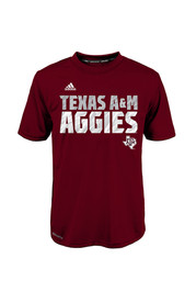 Texas A&M Youth Maroon Shock Energy Performance T-Shirt