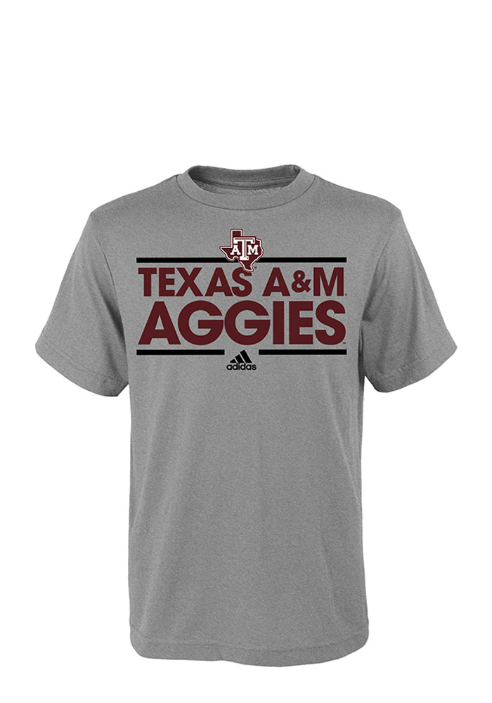 Texas A&M Aggies Youth Grey Dassler Short Sleeve T-Shirt - Image 1