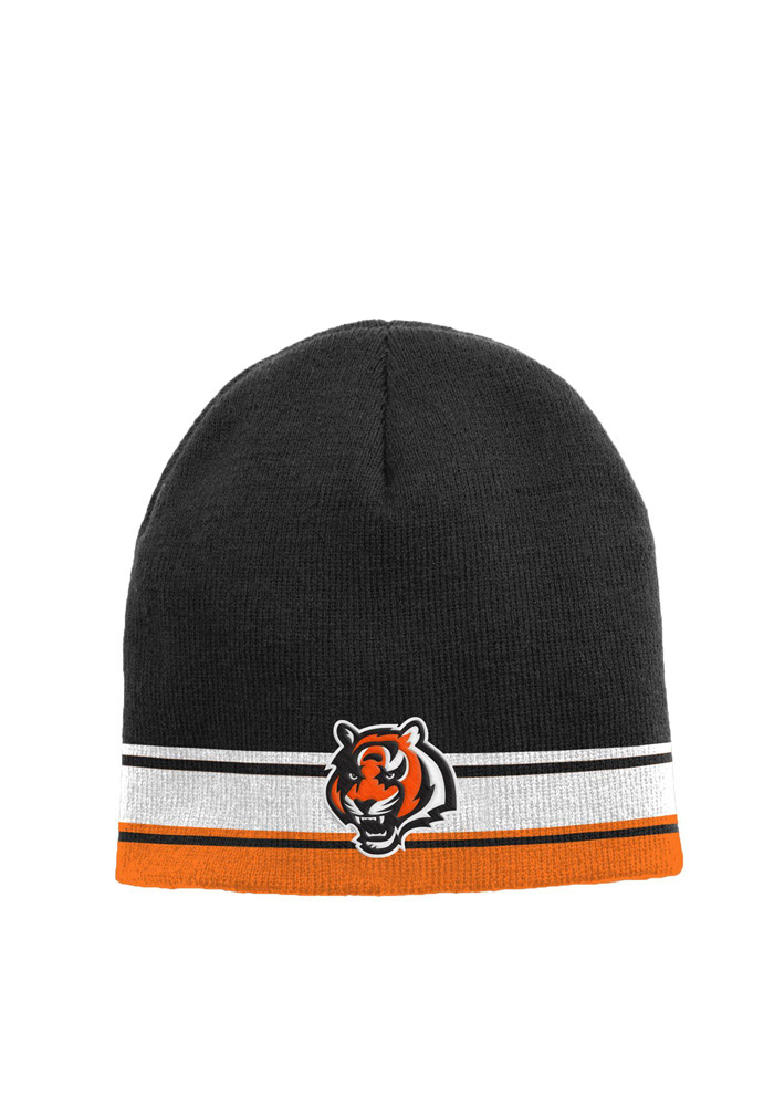 Cincinnati Bengals Black Cuffless Youth Knit Hat - Image 1