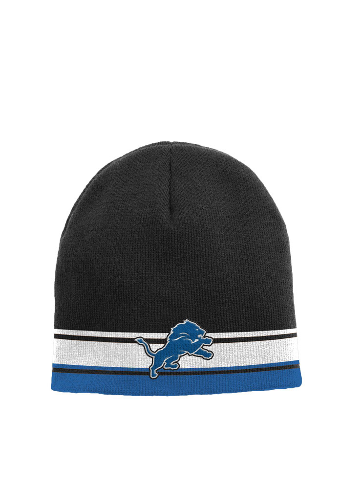 Detroit Lions Blue Cuffless Youth Knit Hat - Image 1
