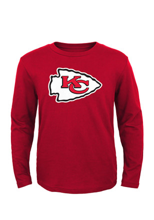 KC Chiefs Boys Red Boys 4-7 Primary Logo T-Shirt