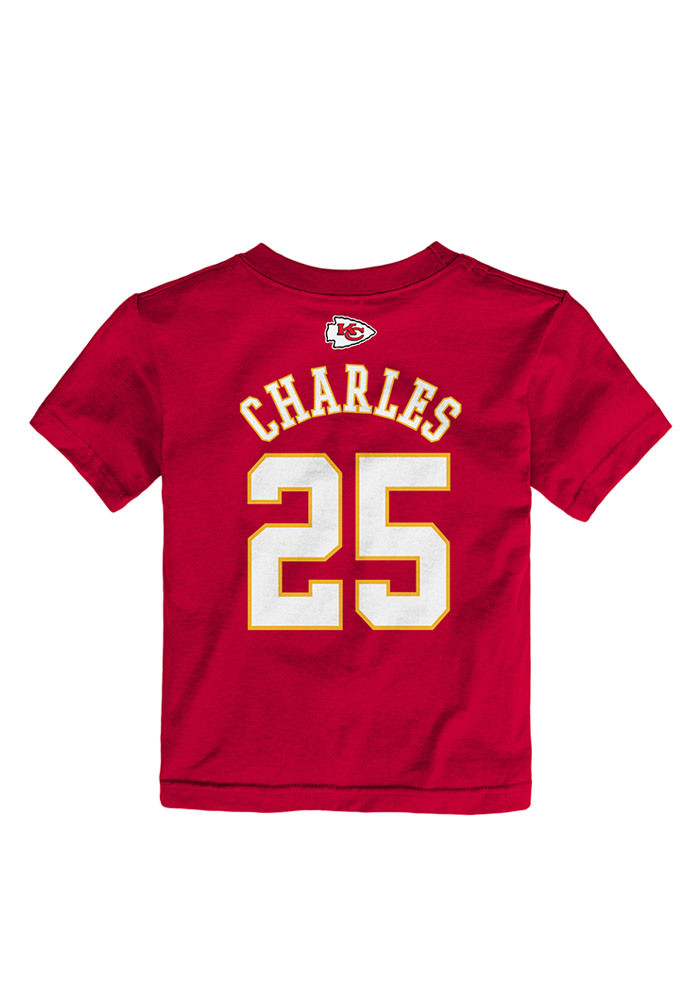 Jamaal Charles Kansas City Chiefs Toddler Red Mainliner Short Sleeve Player T Shirt - Image 2