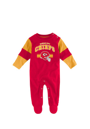 Kansas City Chiefs Baby Red Newborn Team Believer Coverall Creeper