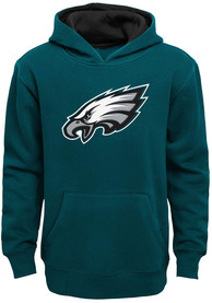 Philadelphia Eagles Youth Prime Hooded Sweatshirt - Midnight Green