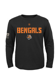 Cincinnati Bengals Youth Black Youth Basic Squadron T-Shirt