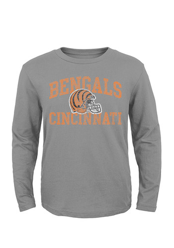 Cincinnati bengals youth grey youth heritage vintage long for Vintage bengals t shirts