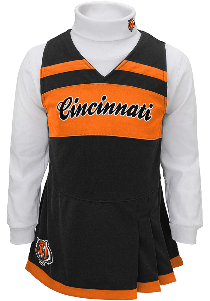 Cincinnati Bengals Baby Black Infant Dress Set Cheer - Image 1