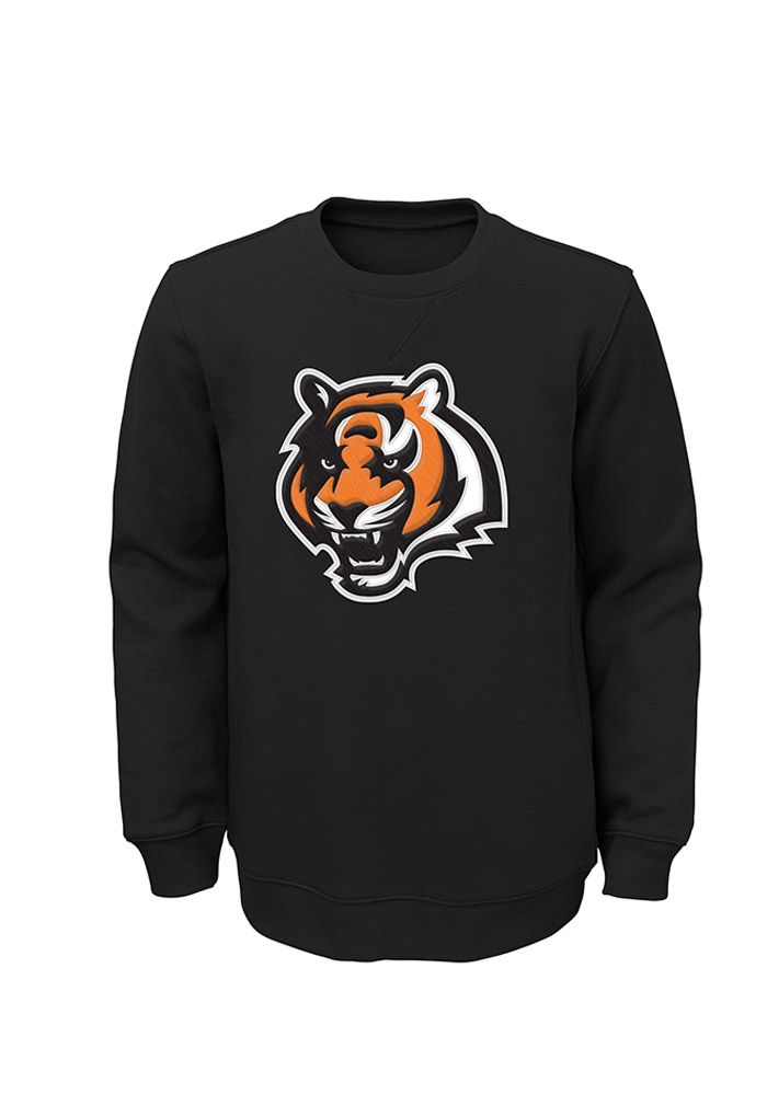 a0aa551584c Cincinnati Bengals Youth Black Youth Prime Crew Sweatshirt