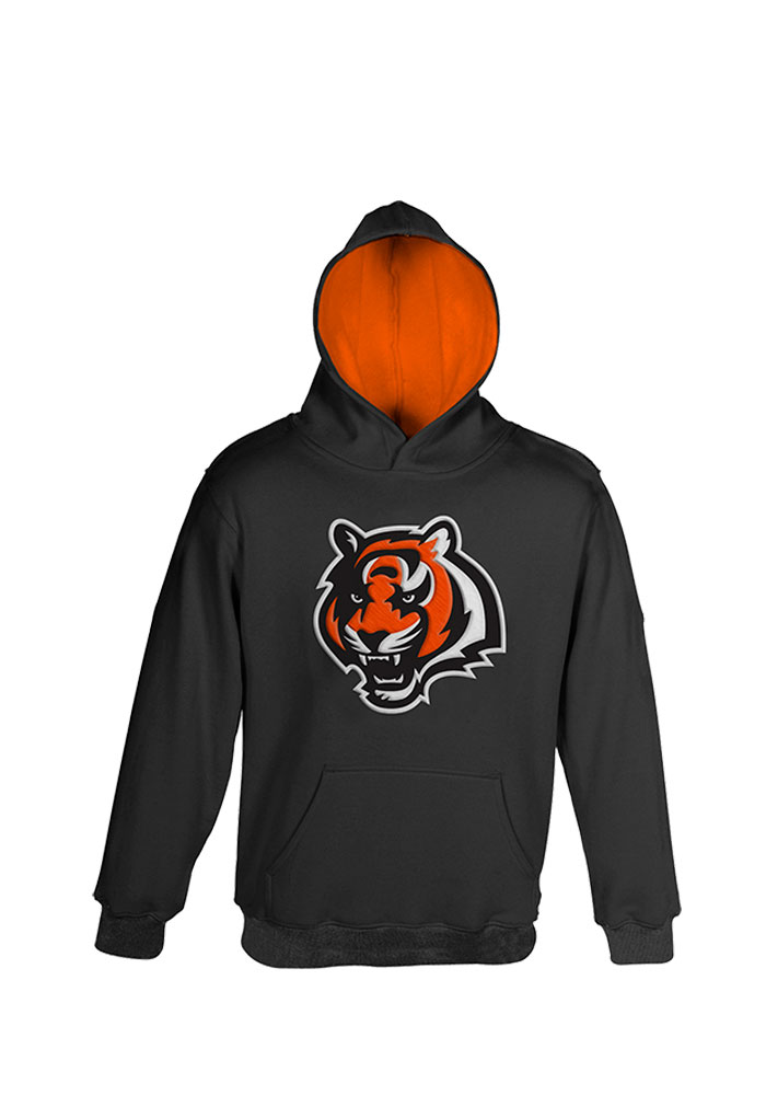 Cincinnati Bengals Boys Black Boys 4-7 Prime Long Sleeve Hooded Sweatshirt - Image 1