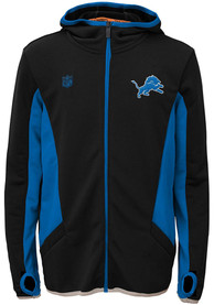 Detroit Lions Youth Strike Full Zip Jacket - Charcoal