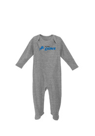 Detroit Lions Baby Big Fan Grey Big Fan One Piece Pajamas