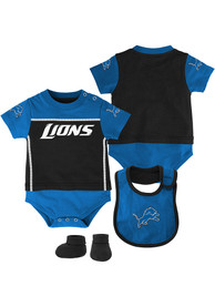 Detroit Lions Baby Fan One Piece with Bib - Blue