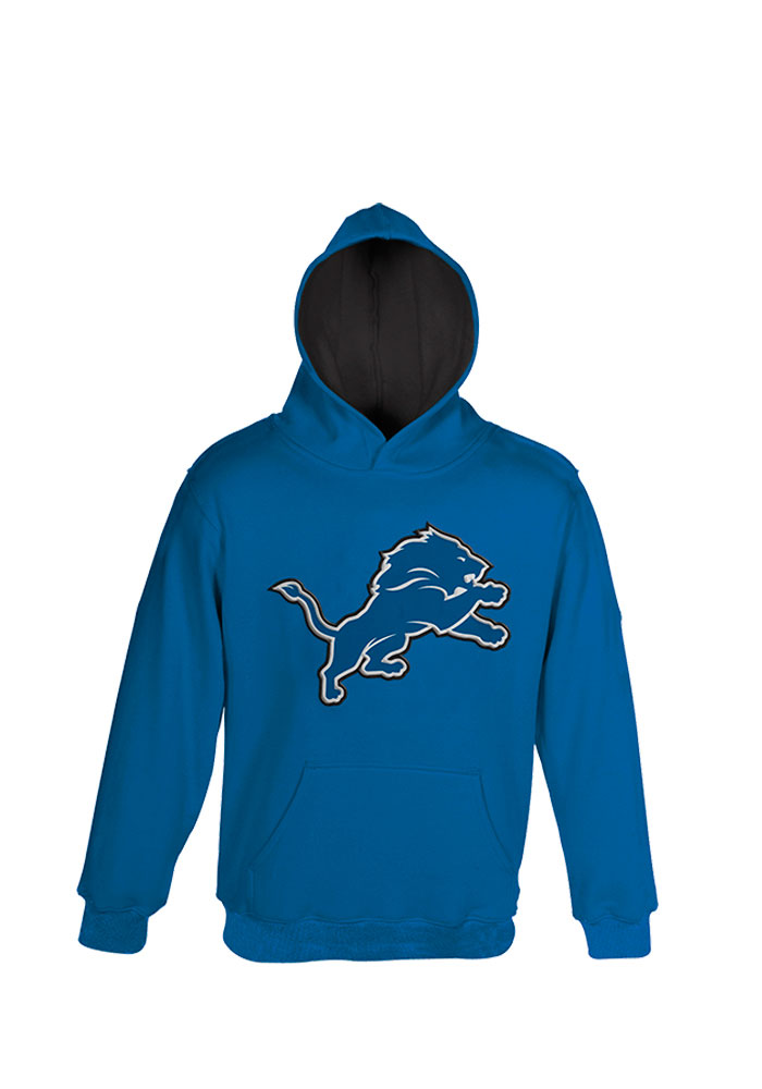 Detroit Lions Toddler Blue Prime Long Sleeve Hooded Sweatshirt - Image 1
