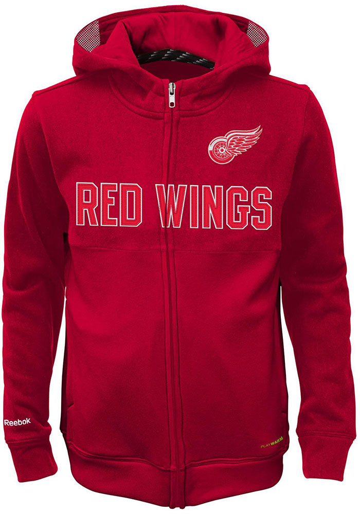 Detroit Red Wings Kids Red Youth Offside Long Sleeve Full Zip Jacket - Image 1