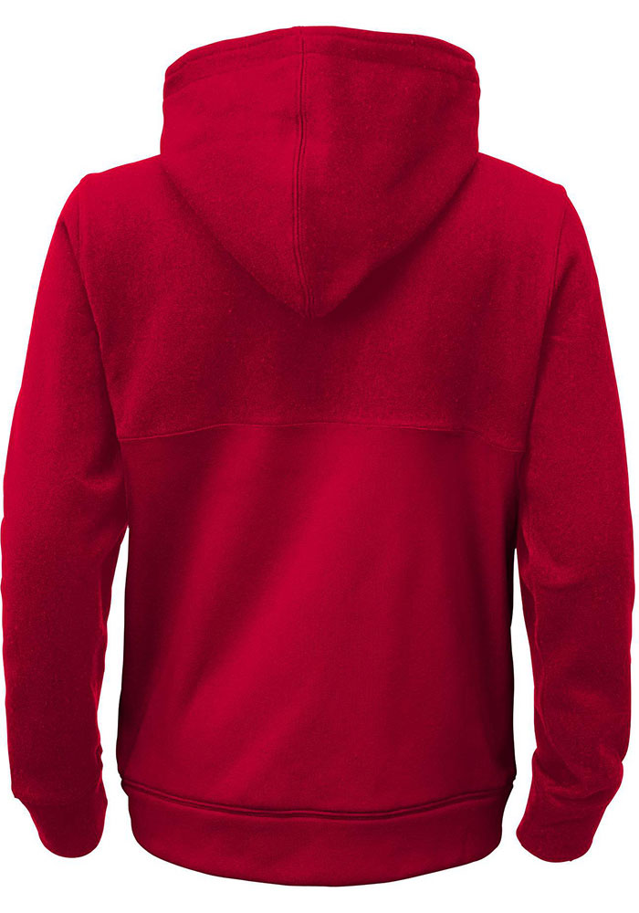 Detroit Red Wings Kids Red Youth Offside Long Sleeve Full Zip Jacket - Image 2