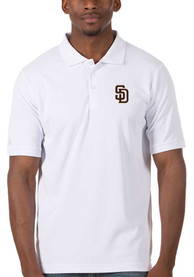 San Diego Padres Antigua Legacy Pique Polo Shirt - White