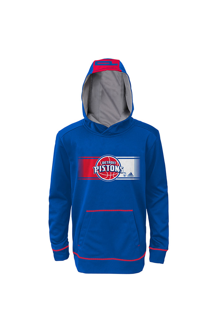 Detroit Pistons Kids Blue Youth Pullover Long Sleeve Hoodie - Image 1