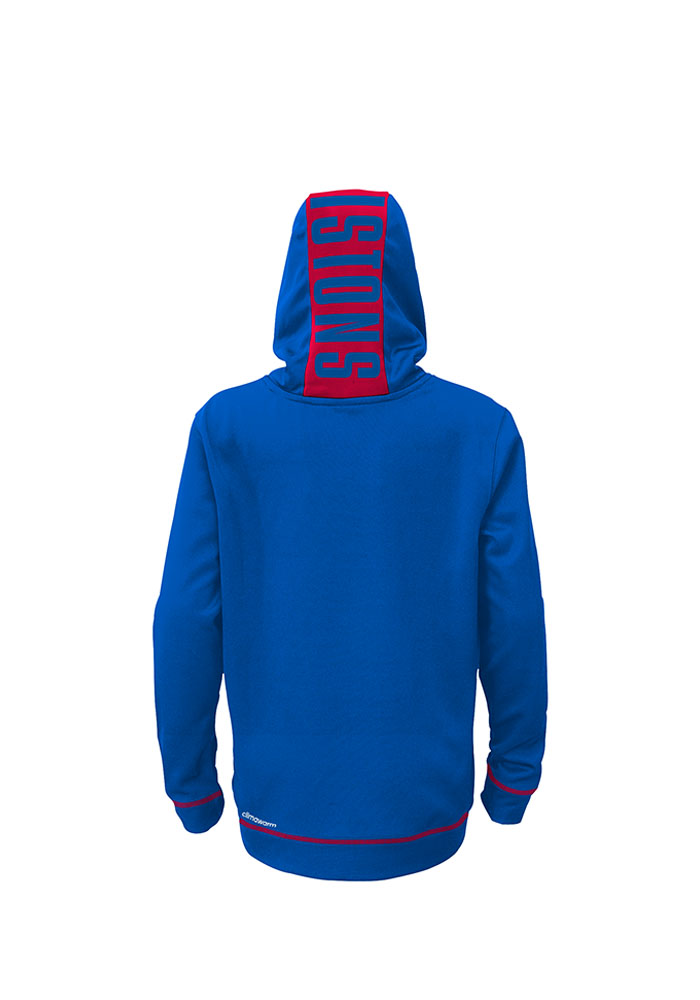 Detroit Pistons Kids Blue Youth Pullover Long Sleeve Hoodie - Image 2