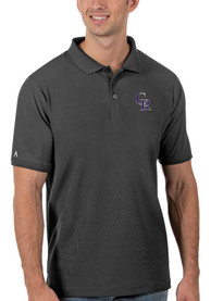 Colorado Rockies Antigua Legacy Pique Polo Shirt - Grey