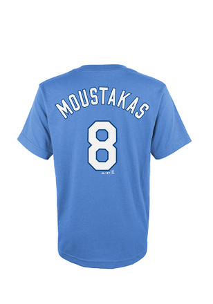 Mike Moustakas Outer Stuff KC Royals Kids Player Tee Light Blue Player Tee