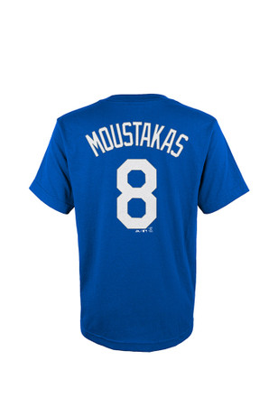 Mike Moustakas Outer Stuff KC Royals Kids Player Tee Blue Player Tee