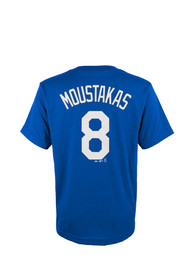 Mike Moustakas Kansas City Royals Youth Player Tee T-Shirt - Blue