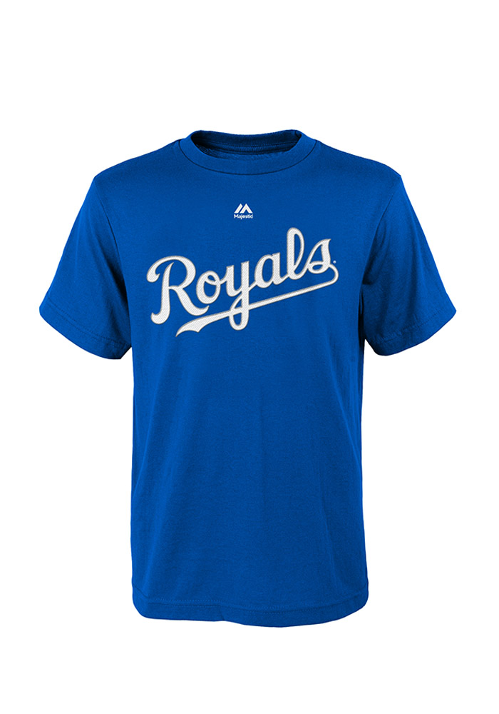 Mike Moustakas Kansas City Royals Youth Blue Player Tee Player Tee - Image 2