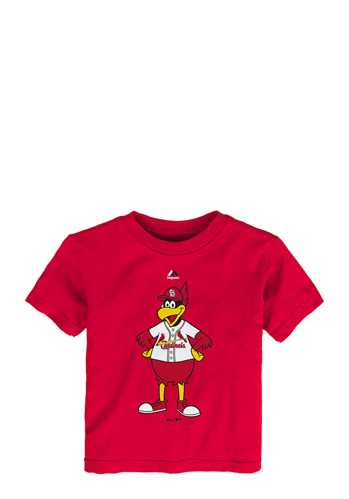 St Louis Cardinals Toddler Red Mascot Tee Short Sleeve T-Shirt - Image 1
