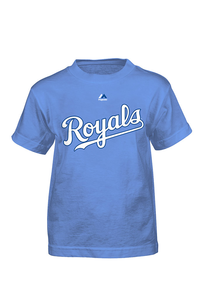 Mike Moustakas Kansas City Royals Boys Blue Player Tee Short Sleeve T-Shirt - Image 1