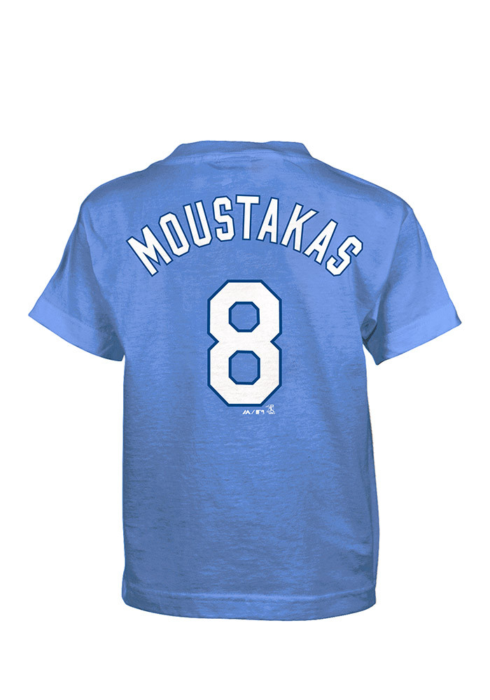 Mike Moustakas Kansas City Royals Boys Blue Player Tee Short Sleeve T-Shirt - Image 2