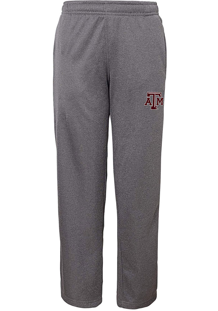 Texas A&M Aggies Youth Charcoal Performance Track Pants - Image 1