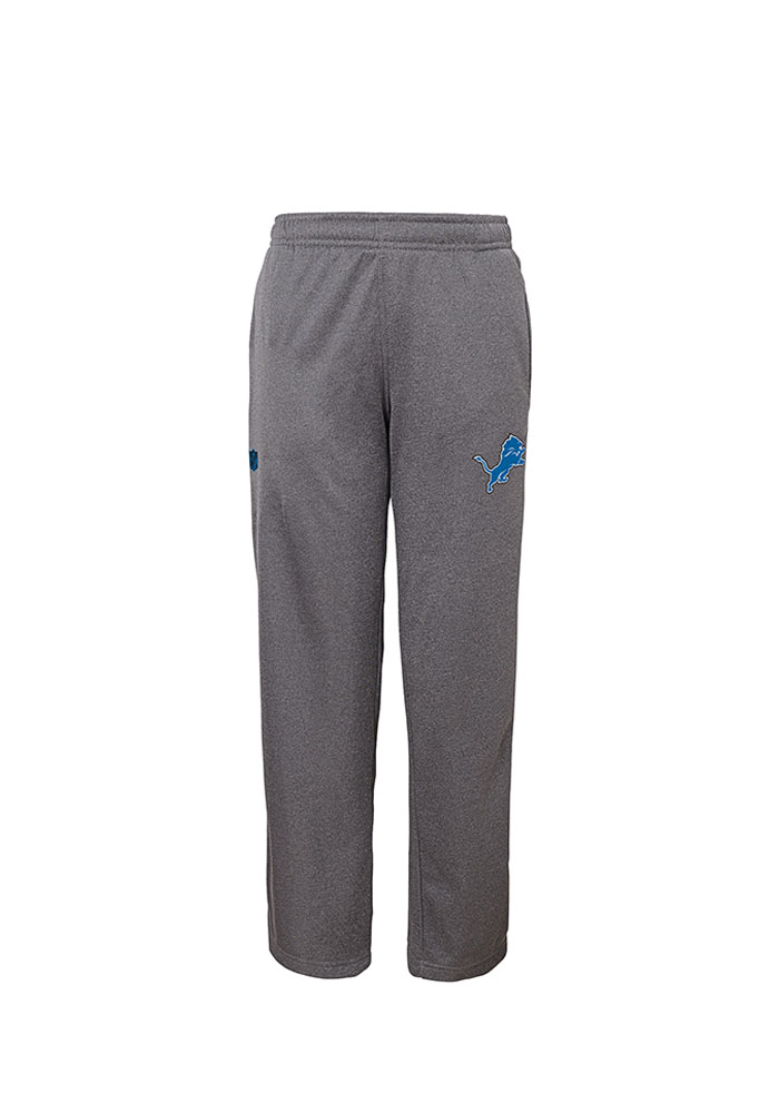 Detroit Lions Youth Grey Performance Track Pants - Image 1